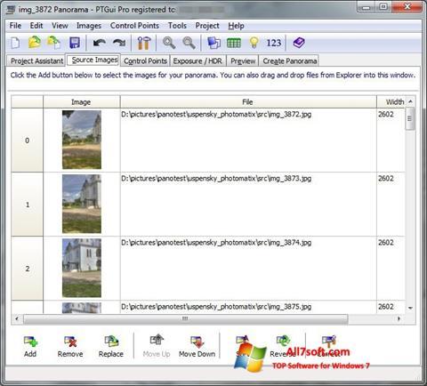 Képernyőkép PTGui Windows 7