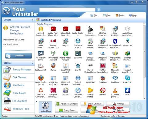 Képernyőkép Your Uninstaller Windows 7