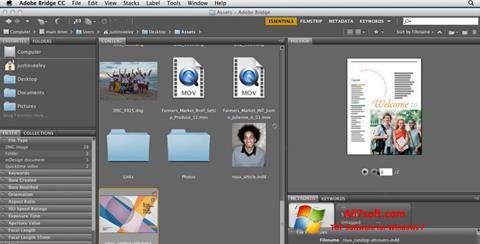 Képernyőkép Adobe Bridge Windows 7