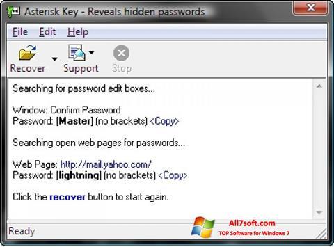 Képernyőkép Asterisk Key Windows 7