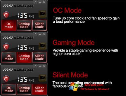 Képernyőkép MSI Gaming App Windows 7
