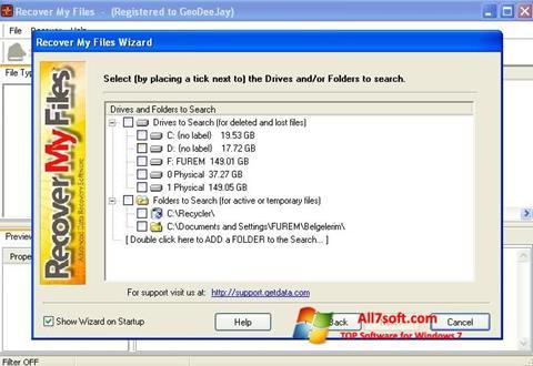 Képernyőkép Recover My Files Windows 7