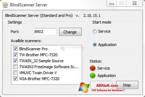 Képernyőkép BlindScanner Windows 7