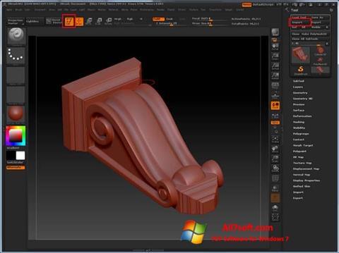 Képernyőkép ZBrush Windows 7