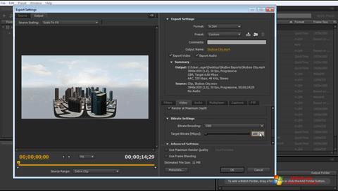 Képernyőkép Adobe Media Encoder Windows 7