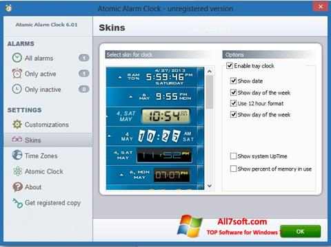 Képernyőkép Atomic Alarm Clock Windows 7