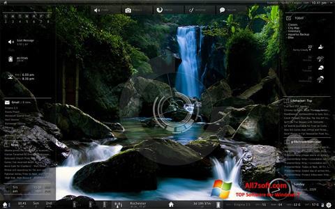 Képernyőkép Rainmeter Windows 7
