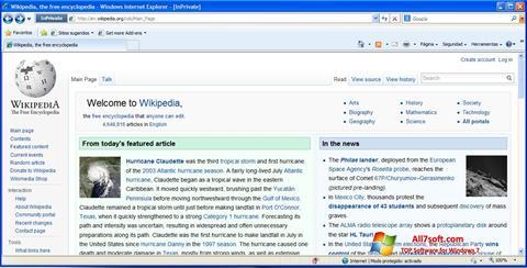 Képernyőkép Internet Explorer Windows 7
