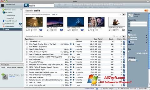 Képernyőkép Vuze Windows 7