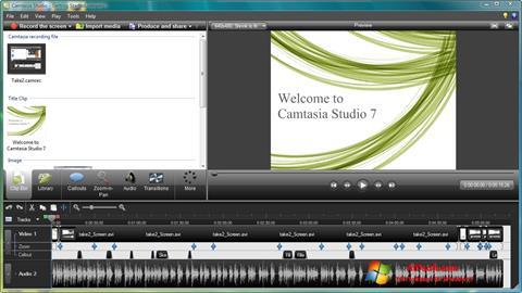 Képernyőkép Camtasia Studio Windows 7
