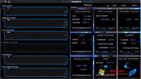 Képernyőkép GIGABYTE OC Guru Windows 7