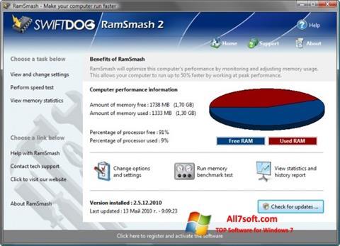 Képernyőkép RamSmash Windows 7