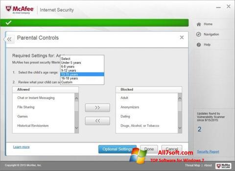 Képernyőkép McAfee Windows 7