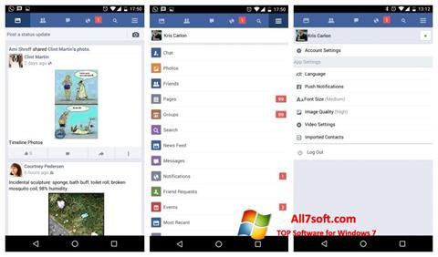 Képernyőkép Facebook Windows 7