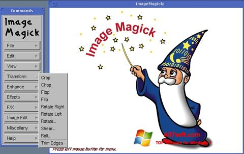 Képernyőkép ImageMagick Windows 7