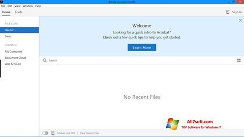Képernyőkép Adobe Acrobat Pro Windows 7