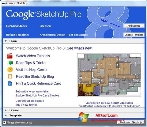 Képernyőkép Google SketchUp Pro Windows 7