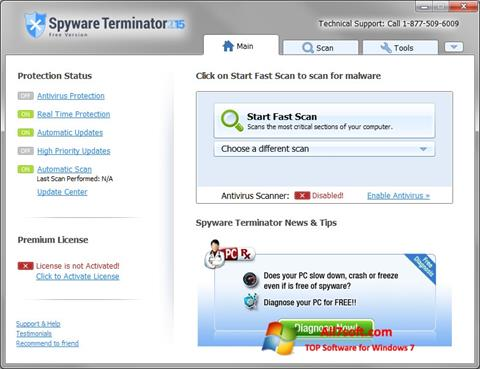 Képernyőkép Spyware Terminator Windows 7