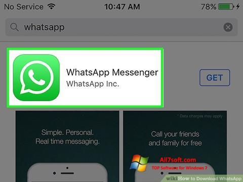 Képernyőkép WhatsApp Windows 7
