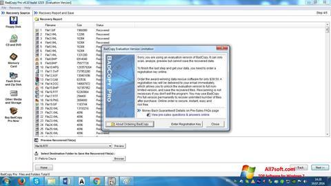 Képernyőkép BadCopy Pro Windows 7
