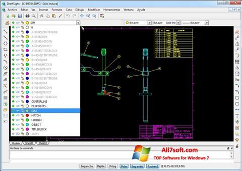 Képernyőkép DraftSight Windows 7