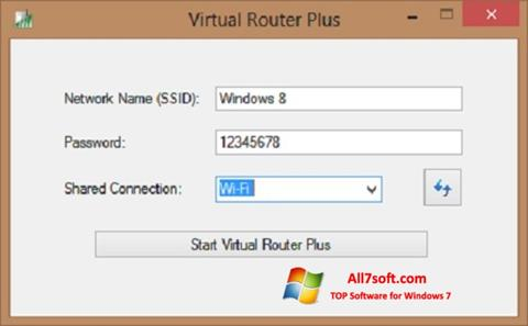 Képernyőkép Virtual Router Plus Windows 7