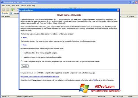 Képernyőkép CommView for WiFi Windows 7