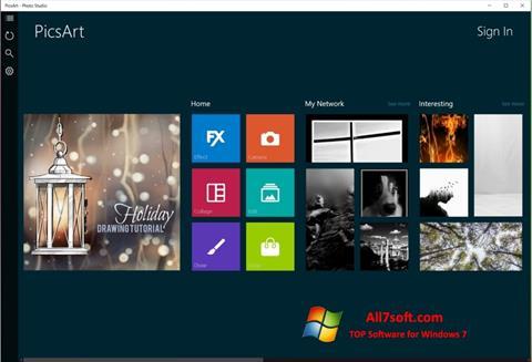 Képernyőkép PicsArt Windows 7