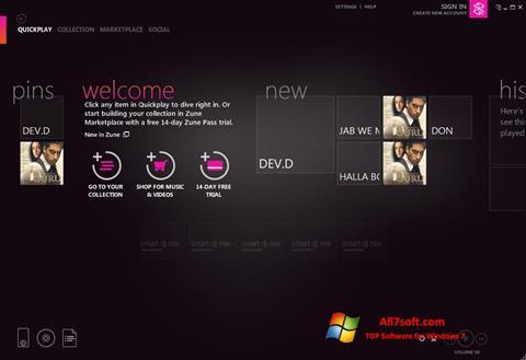Képernyőkép Zune Windows 7