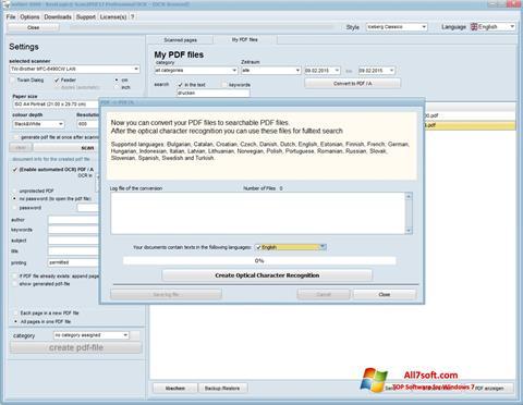 Képernyőkép Scan2PDF Windows 7