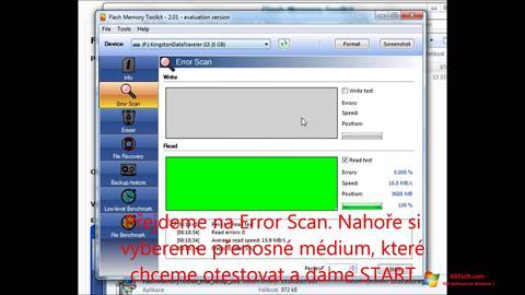 Képernyőkép Flash Memory Toolkit Windows 7
