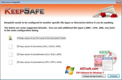 Képernyőkép KeepSafe Windows 7