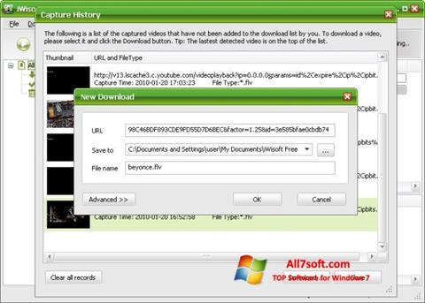 Képernyőkép Free Video Catcher Windows 7