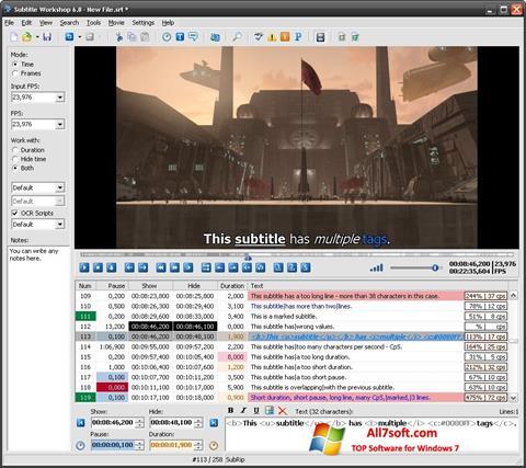 Képernyőkép Subtitle Workshop Windows 7
