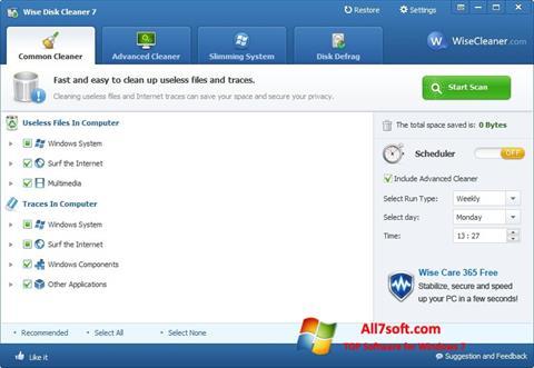 Képernyőkép Wise Disk Cleaner Windows 7