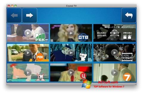 Képernyőkép Crystal TV Windows 7