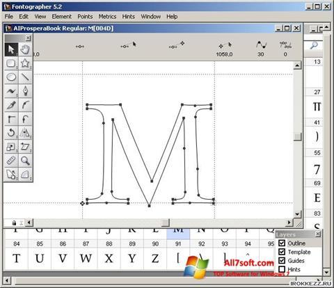 Képernyőkép Fontographer Windows 7