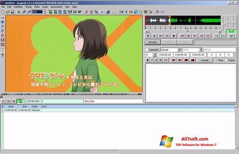 Képernyőkép Aegisub Windows 7