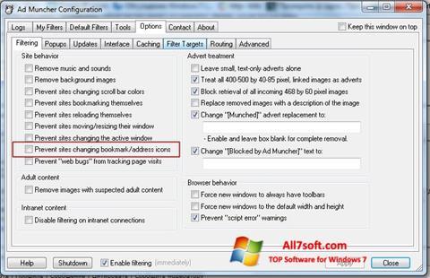Képernyőkép Ad Muncher Windows 7