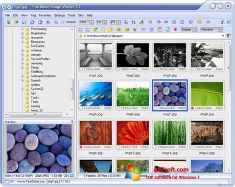 Képernyőkép FastStone Image Viewer Windows 7