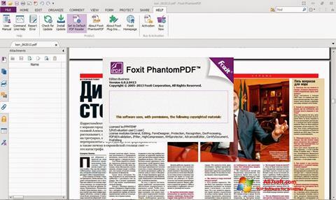 Képernyőkép Foxit Phantom Windows 7