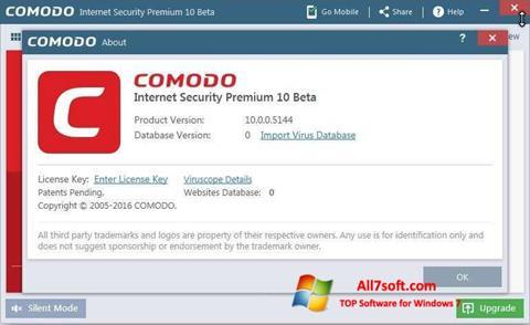 Képernyőkép Comodo Windows 7