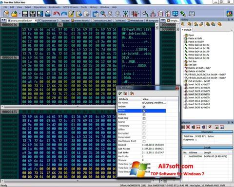 Képernyőkép Hex Editor Neo Windows 7