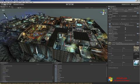 Képernyőkép Unity 3D Windows 7