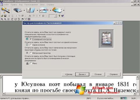 Képernyőkép CuneiForm Windows 7