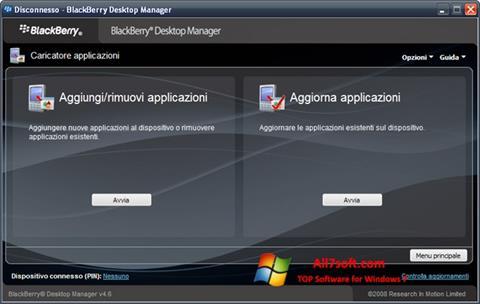 Képernyőkép BlackBerry Desktop Manager Windows 7