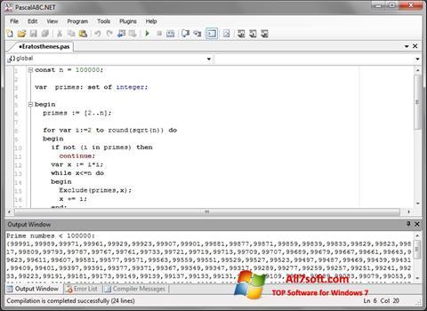 Képernyőkép Pascal ABC Windows 7