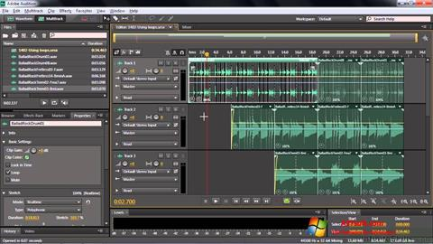 Képernyőkép Adobe Audition CC Windows 7