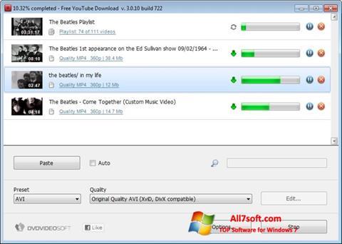 Képernyőkép Free YouTube Download Windows 7