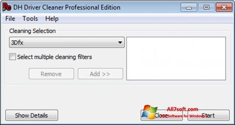Képernyőkép Driver Cleaner Windows 7